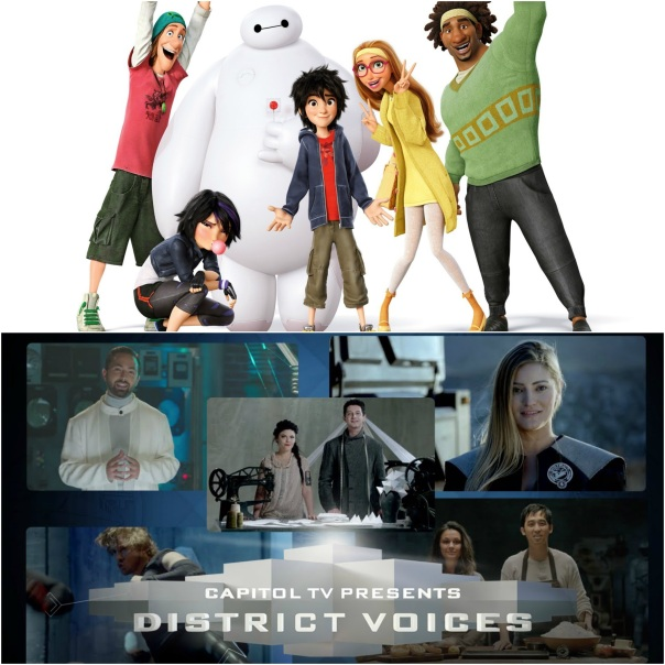 Big Hero 6 and The Hunger Games: Mockingjay